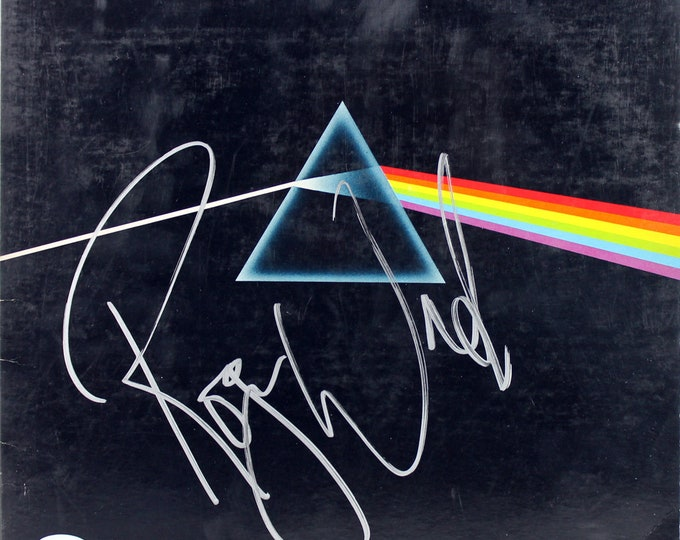 Roger Waters Pink Floyd Autographed Signed Dark Side Of The Moon Album Cover PSA COA
