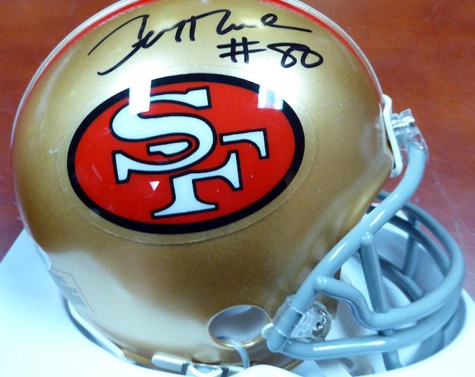 Jerry Rice Autographed Signed San Francisco 49ers Mini Helmet BECKETT