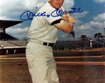 Mickey Mantle New York Yankees Autographed Signed 8x10 Photo BECKETT