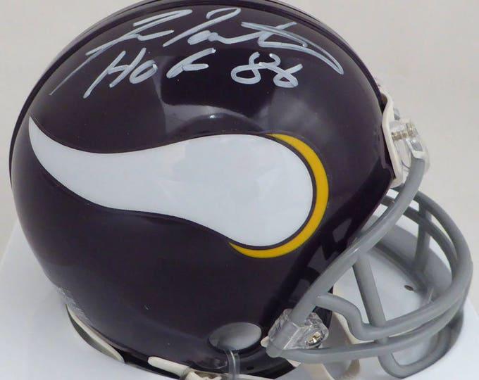 Fran Tarkenton Autographed Signed Minnesota Vikings Mini Helmet JSA