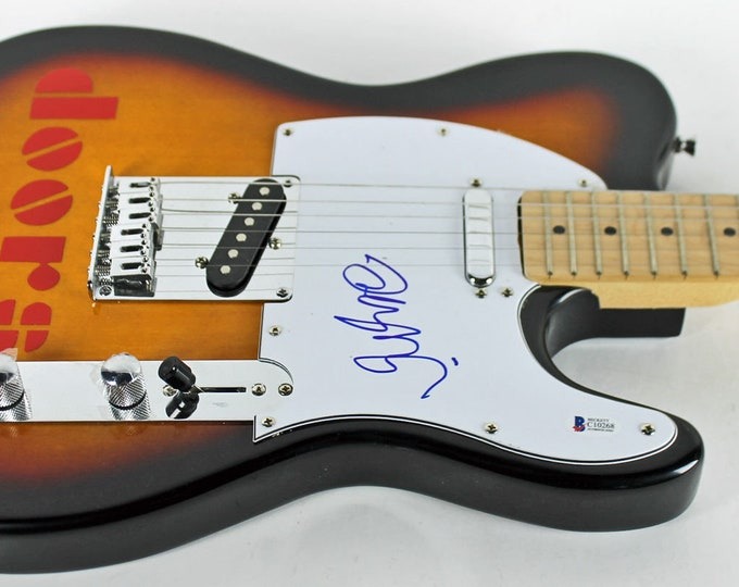 Robbie Krieger The Doors Autographed Signed Electric Guitar BECKETT
