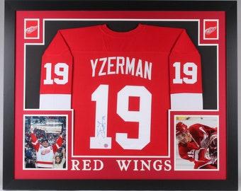 2dd4a8d4285 Steve Yzerman Autographed Signed Framed Detroit Red Wings Jersey JSA