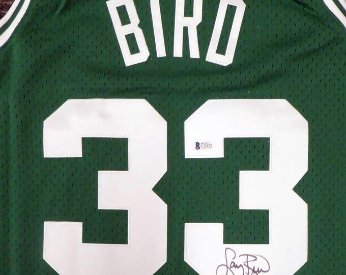 Larry Bird Autographed Signed Boston Celtics Jersey BECKETT