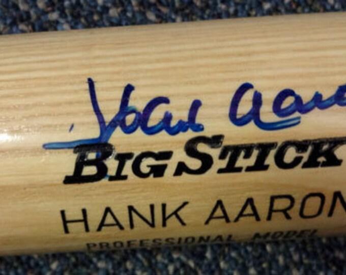 Hank Aaron Atlanta Braves Autographed Signed Baseball Bat PSA