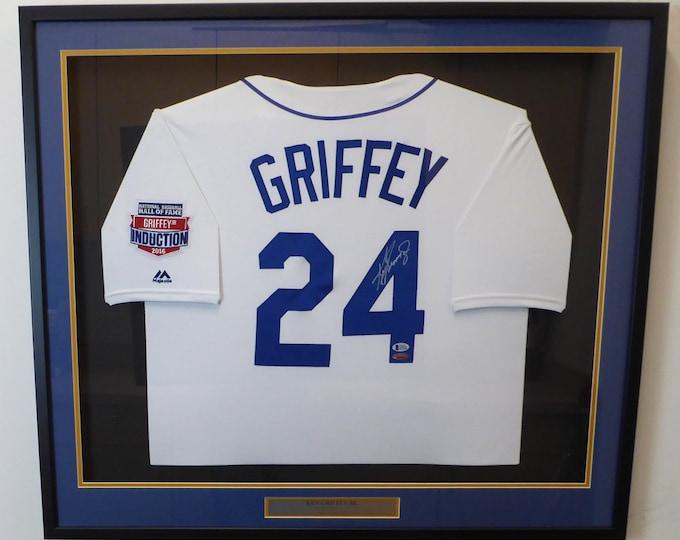 Ken Griffey Jr. Framed Autographed Signed Seattle Mariners Jersey BECKETT
