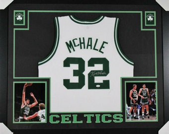 Kevin McHale Autographed Signed Boston Celtics Framed Jersey JSA