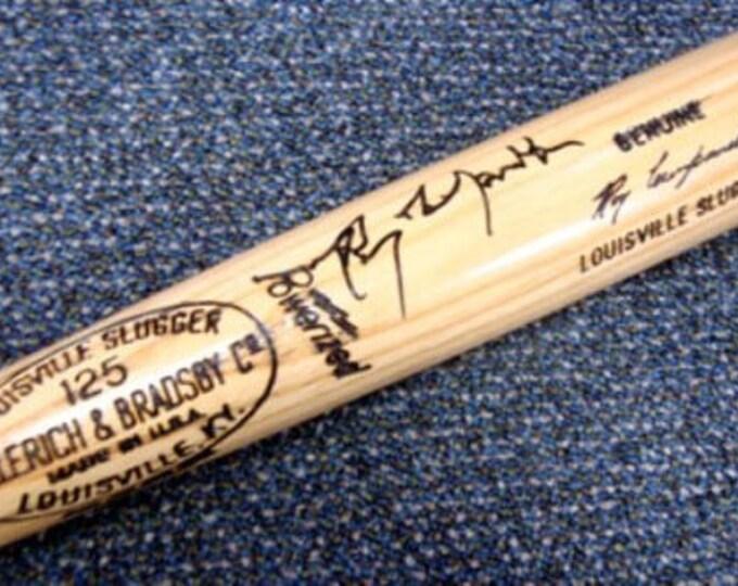 Roy Campanella Brooklyn Dodgers Autographed Signed Louisville Slugger Bat PSA