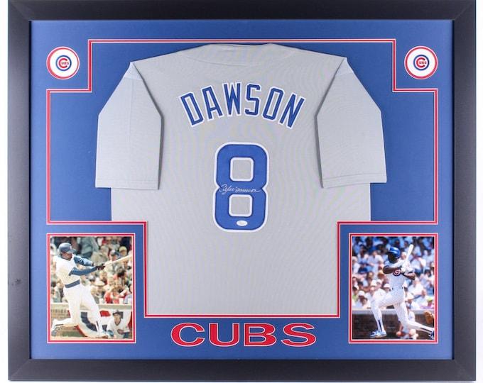Andre Dawson Autographed Signed Framed Chicago Cubs Jersey JSA