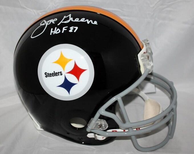 Joe Greene Autographed Signed Pittsburgh Steelers Full Size Proline Helmet JSA