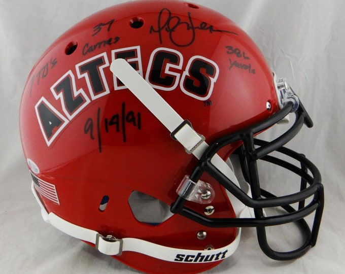 Marshall Faulk Colts Rams Autographed Signed San Diego State Schutt Authentic Helmet BECKETT