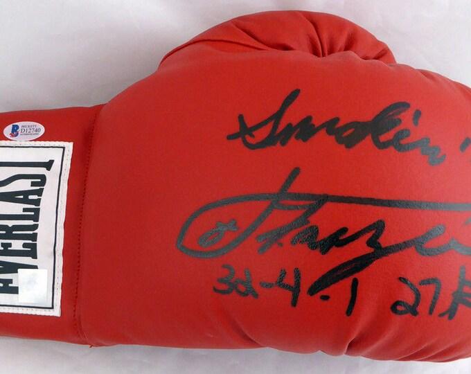 Joe Frazier Autographed Signed Everlast Boxing Glove BECKETT