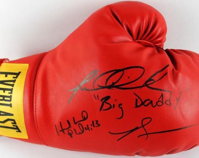 Evander Holyfield & Riddick Bowe Autographed Signed Everlast Boxing Glove PSA