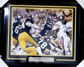 Pittsburgh Steelers quot Steel Curtain quot (4 Sigs) Autographed Signed Framed 16x20 Photo PSA