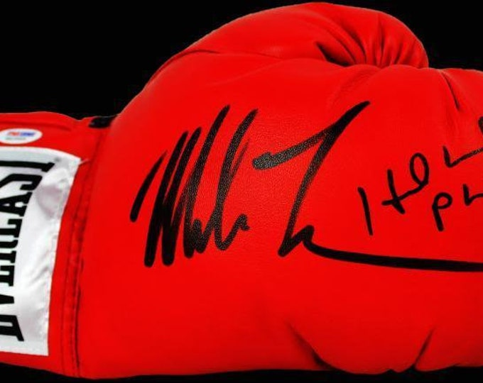 Mike Tyson and Evander Holyfield Autographed Signed Everlast Boxing Glove PSA