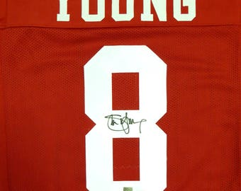 df6a94b5c Steve Young Autographed Signed San Francisco 49ers Jersey BECKETT