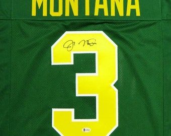 19239a516 Joe Montana Autographed Signed Notre Dame Fighting Irish Jersey BECKETT