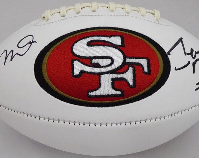 Joe Montana & Jerry Rice Autographed Signed San Francisco 49ers Logo Football BECKETT