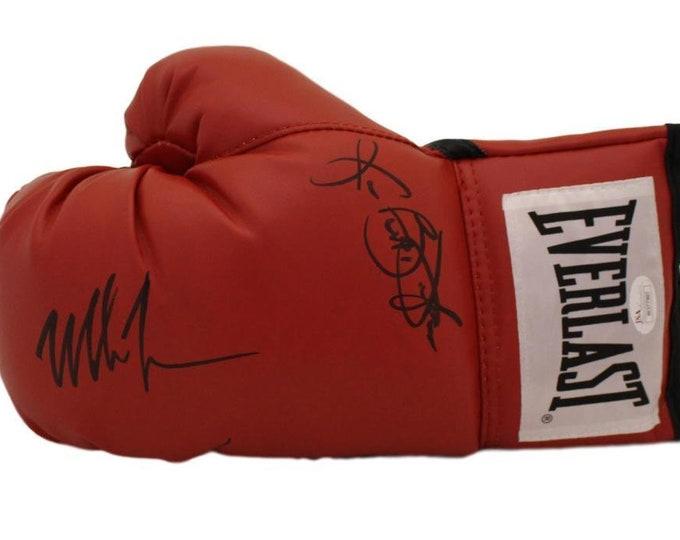 Mike Tyson & Buster Douglas Autographed Signed Everlast Boxing Glove JSA