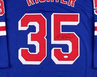 Mike Richter Autographed Signed New York Rangers Jersey JSA