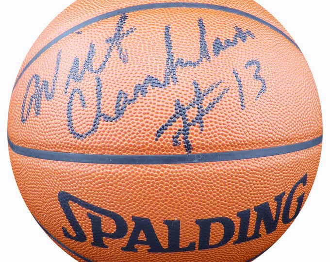 Wilt Chamberlain Los Angeles Lakers Autographed Signed Spalding Leather Basketball BECKETT