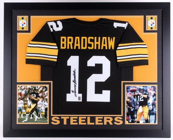 more photos 66ccd f54c2 Terry Bradshaw Autographed Signed Framed Pittsburgh Steelers Jersey JSA