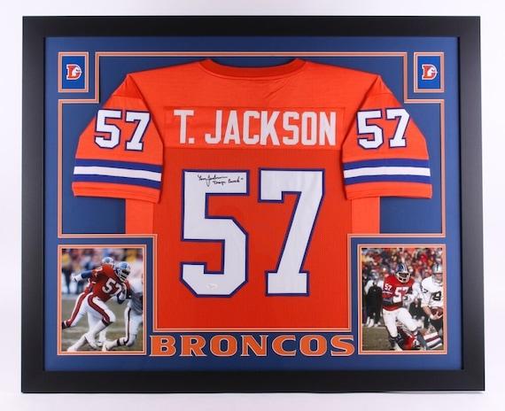 Tom Jackson Autographed Signed Framed Denver Broncos Jersey JSA