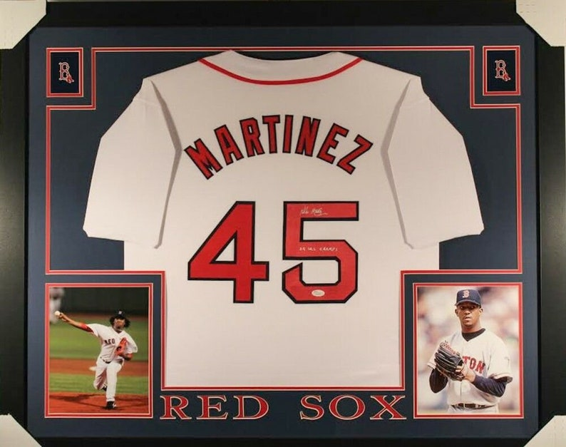 new concept dfae6 f57cc Pedro Martinez Signed Autographed Framed Boston Red Sox Jersey JSA