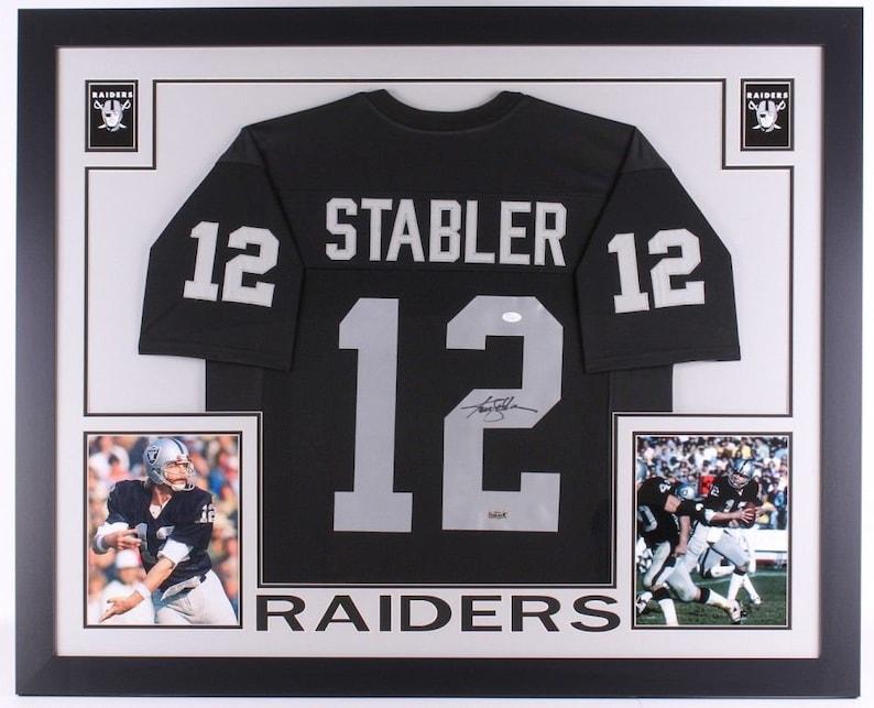89b58dea5 Ken Stabler Autographed Signed Framed Oakland Raiders Jersey | Etsy