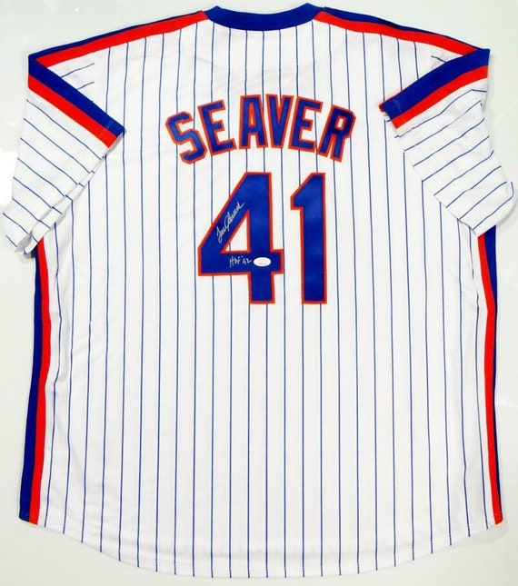 check out 26e19 05bc1 Tom Seaver Autographed Signed Autographed New York Mets Majestic Jersey JSA
