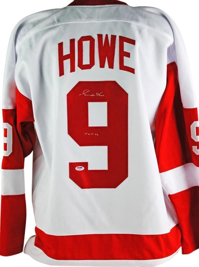 pretty nice 52e72 5aaf7 Gordie Howe Autographed Signed Detroit Red Wings Jersey PSA