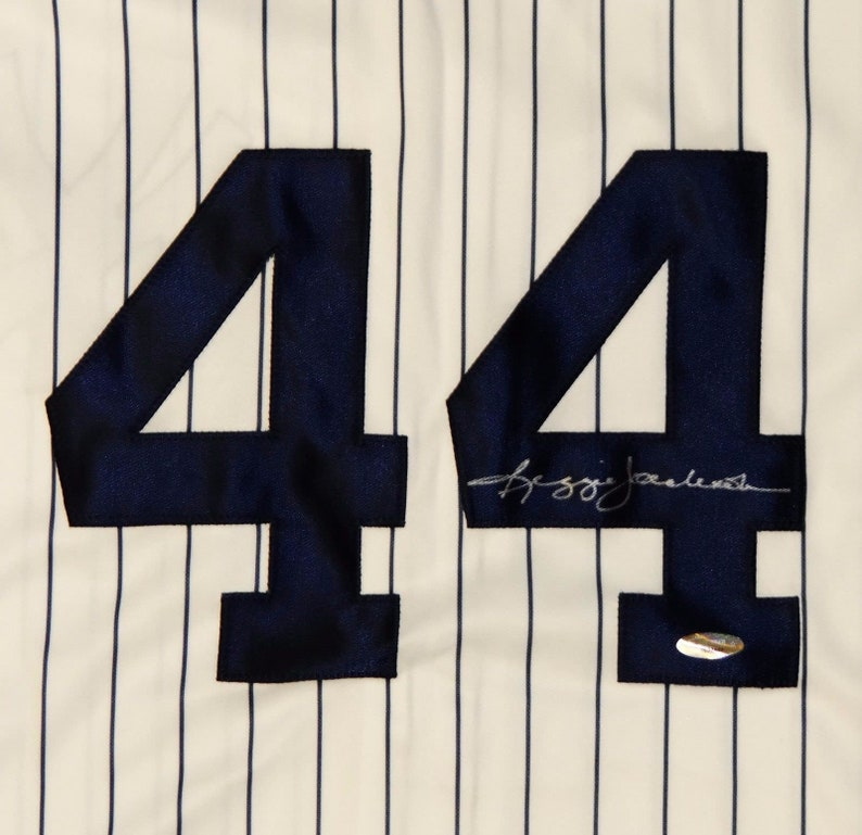 check out fd5df c8c70 Reggie Jackson Autographed Signed New York Yankees Jersey TRISTAR COA
