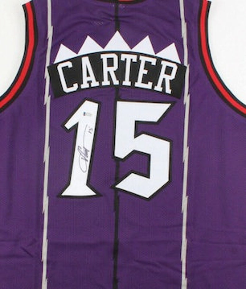 new arrival a053e 29561 Vince Carter Autographed Signed Toronto Raptors Jersey BECKETT