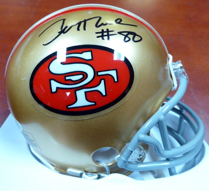 1192bc8aa73 Jerry Rice Autographed Signed San Francisco 49ers Mini Helmet