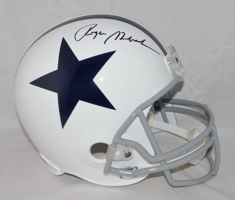 25292658919 Roger Staubach Autographed Signed Dallas Cowboys Vintage Full | Etsy