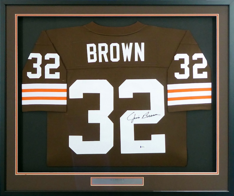 e62576f6153 Jim Brown Autographed Signed Framed Cleveland Browns M&N | Etsy