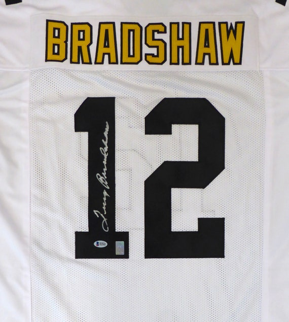 uk availability b03a0 0b693 Terry Bradshaw Autographed Signed Pittsburgh Steelers Jersey BECKETT