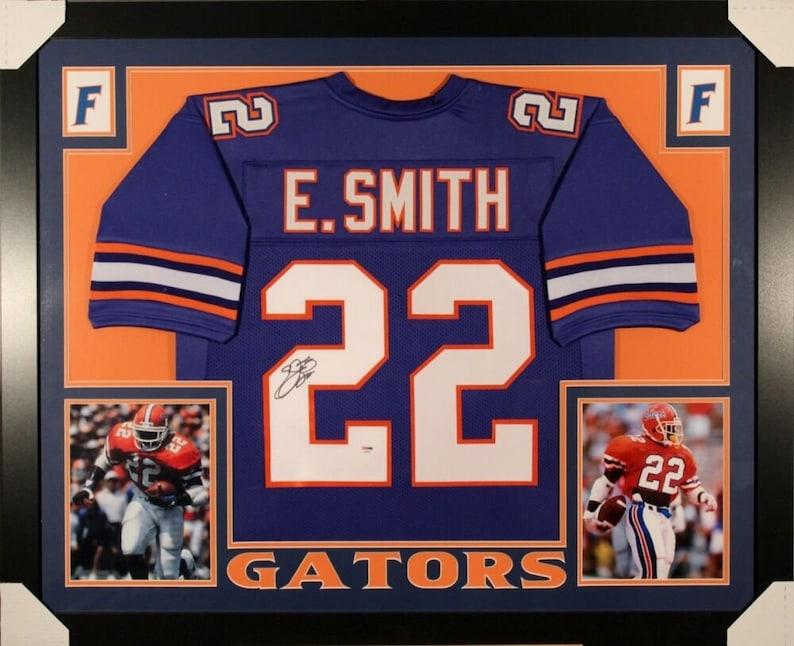 detailed look fb90b c6866 Emmitt Smith Autographed Signed Florida Gators Framed Jersey PSA