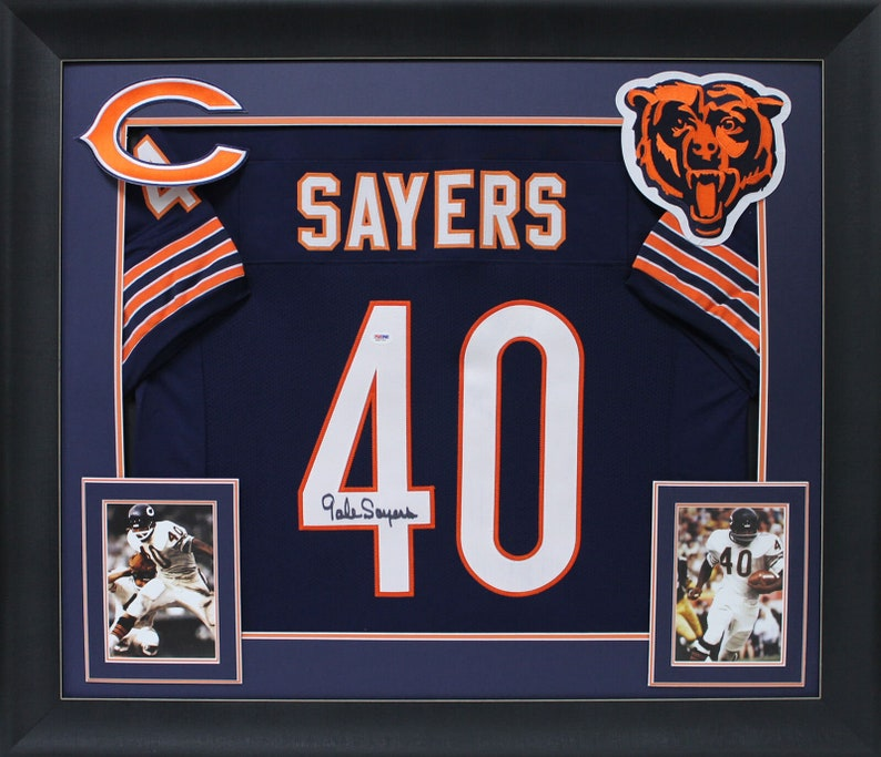 various colors 18a75 633e6 Gale Sayers Autographed Signed Framed Chicago Bears Jersey PSA