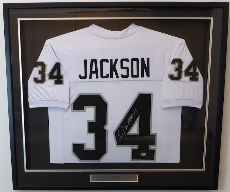 Bo Jackson Autographed Signed Framed Oakland Raiders Jersey | Etsy  for sale