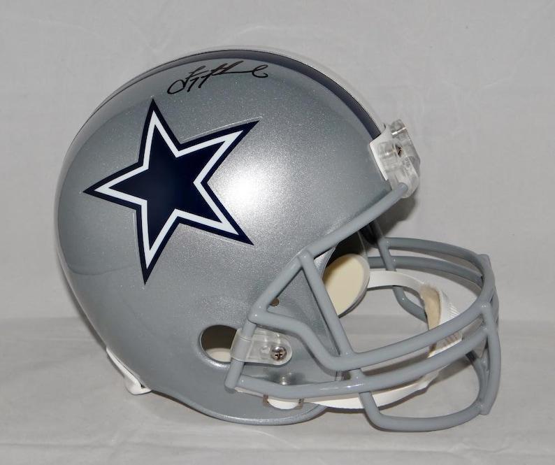 new styles 54793 a350f Troy Aikman Cowboys Autographed Signed Dallas Cowboys Helmet BECKETT