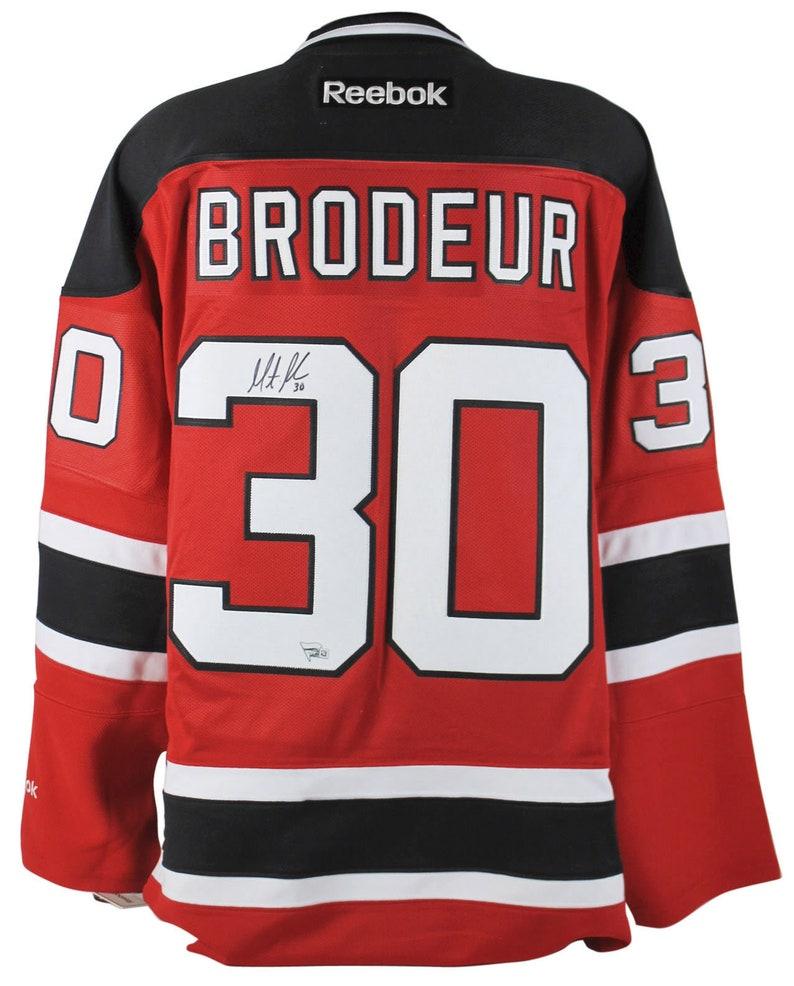 online retailer da957 33eac Martin Brodeur Autographed Signed New Jersey Devils Reebok Jersey FANATICS