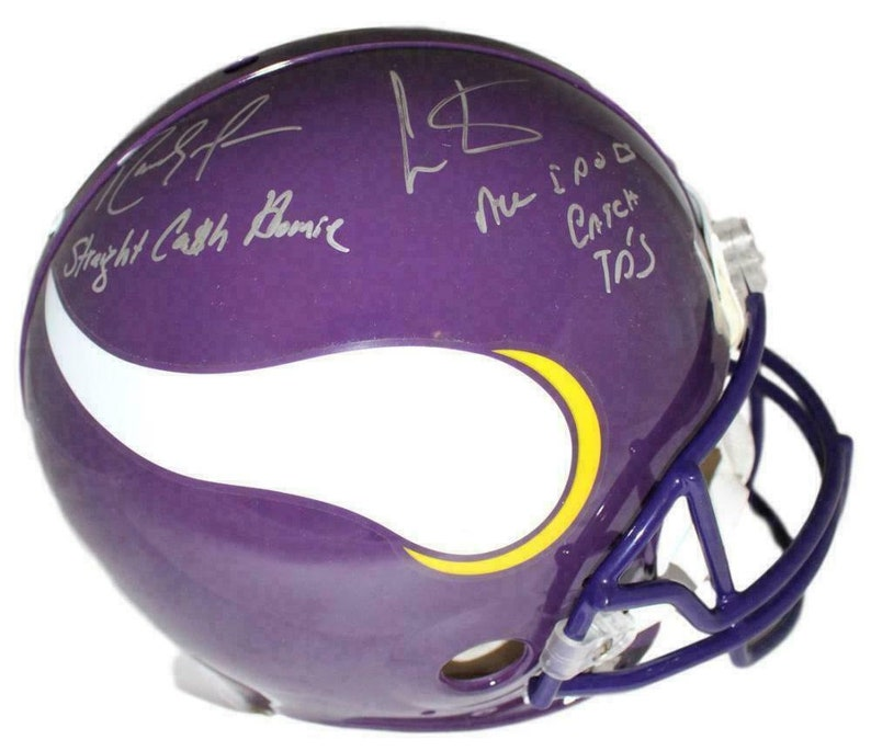 f4202341847 Cris Carter and Randy Moss Autographed Signed Minnesota | Etsy