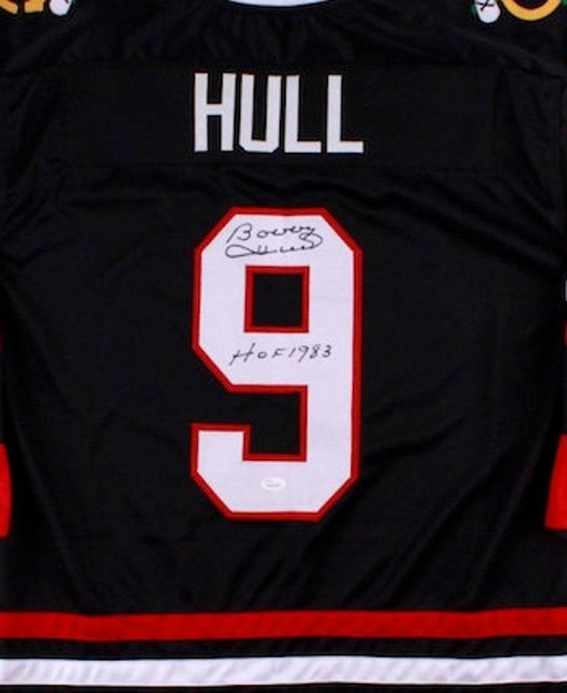 new concept 49d6b 6b90c Bobby Hull Autographed Signed Chicago Blackhawks Jersey JSA