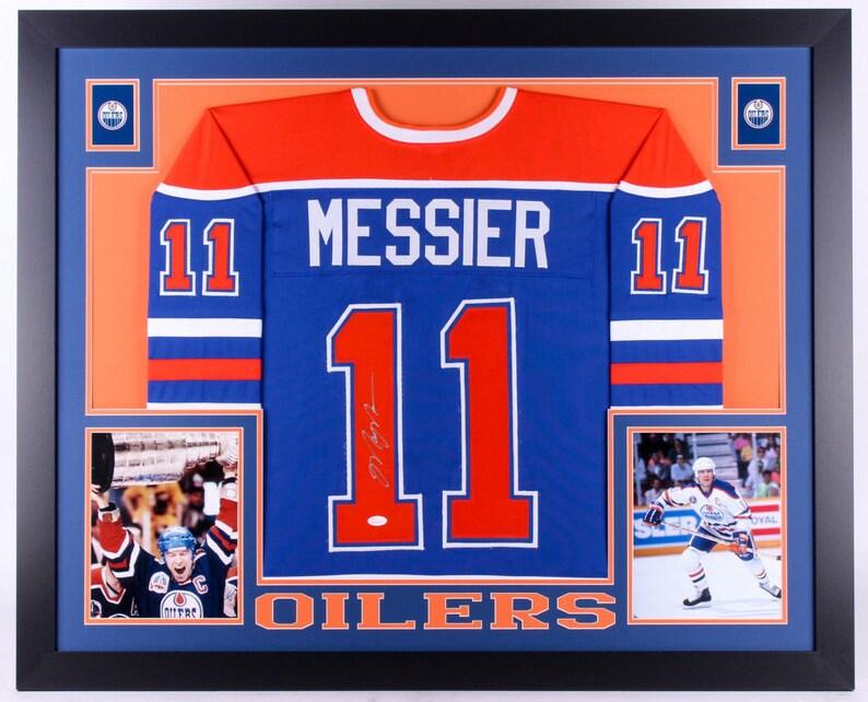 san francisco 61d09 ef674 Mark Messier Autographed Signed Framed Edmonton Oilers Jersey JSA
