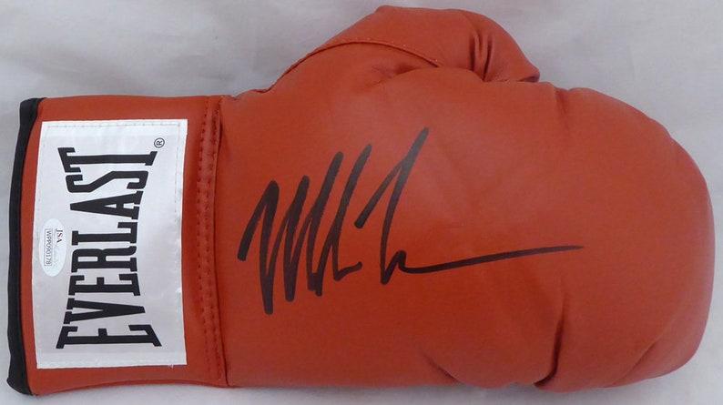 59569d377e1 Mike Tyson Autographed Signed Everlast Boxing Glove JSA