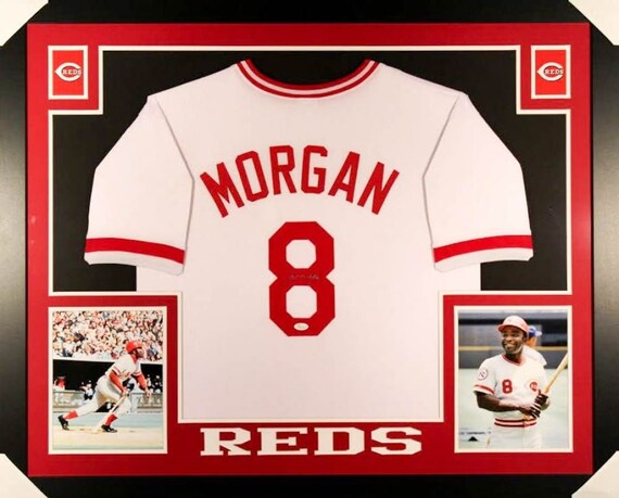 Joe Morgan Autographed Signed Framed Cincinnati Reds Jersey JSA