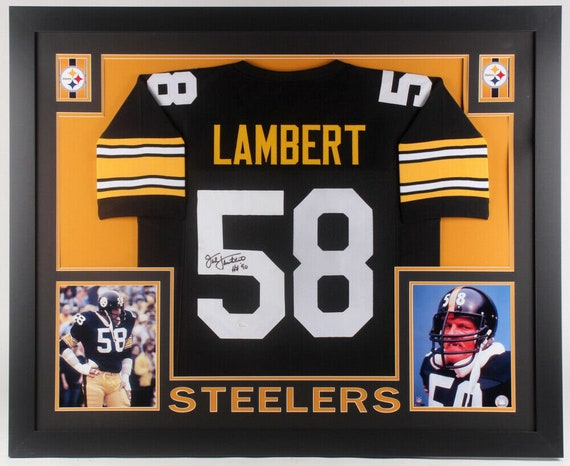 outlet store 2f8dd 7e46c Jack Lambert Autographed Signed Pittsburgh Steelers Framed Jersey JSA