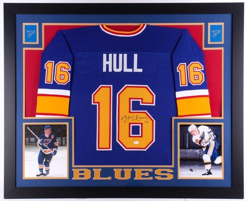 e5e6076fa Brett Hull Autographed Signed St. Louis Blues Framed Jersey | Etsy