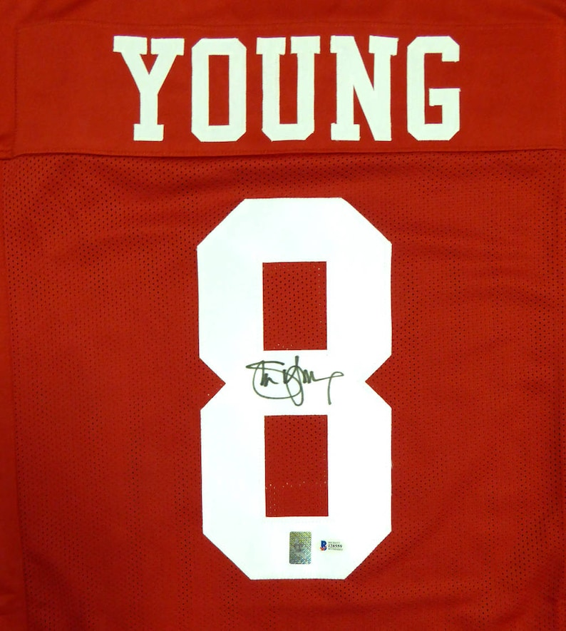 f78ef671158 Steve Young Autographed Signed San Francisco 49ers Jersey