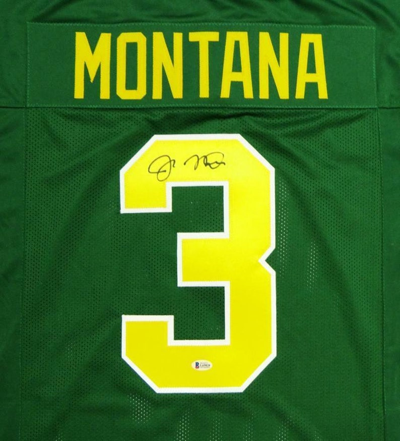 huge selection of 90f55 fdea9 Joe Montana Autographed Signed Notre Dame Fighting Irish Jersey BECKETT